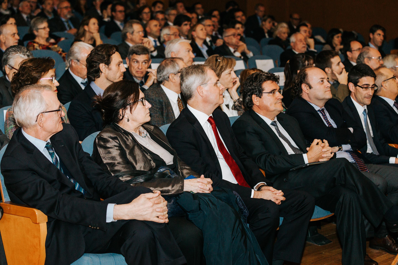José Luis Escrivá con Pablo Fernández en Premios IEF