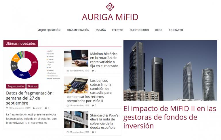 Web de Auriga MiFID