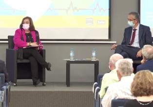Cristina Herrero debate con el Gobernador del Banco de España sobre el papel de las políticas económicas tras la crisis de la Covid-19